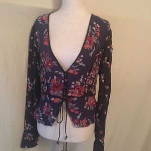 Free people tailored top size small